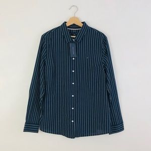 NWT Tommy Hilfiger Relaxed Fit Striped Shirt Sz XL